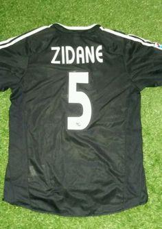 Rare  zidane real madrid  medium  football shirt adidas mint away adults  fran 0ccfd8590