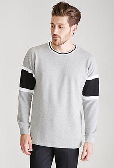 Striped Crew Neck Sweatshirt | 21 MEN | #f21men