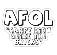 """AFOL 'Carpe Diem Seize the Bricks' by Customize My Minifig"" Stickers by ChilleeW 