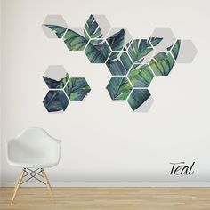 stickers Tropical Wall Decal, Removable Wall Stickers, Birthday present for family and friends, Banana Leaves Art