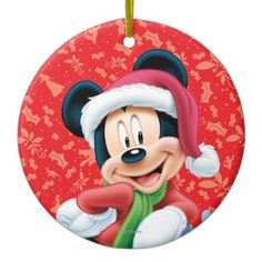 Mickey Mouse, Disney Christmas Ornaments | http://shoppingwithadam.com/disney-christmas-ornaments/