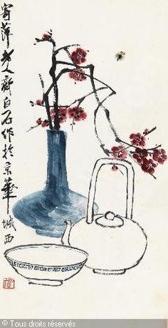 QI BAISHI - PLUM AND WINE