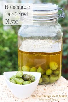 Homemade Salt Cured Olives- My favorite way to prepare fresh olives