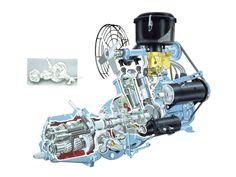 2 stroke Saab engine