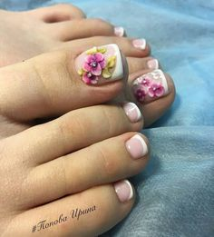 Toenail Art Designs, Long Nail Designs, Pretty Nail Designs, Pretty Toe Nails, Cute Toe Nails, Sexy Nails, French Pedicure, Pedicure Nail Art, Toe Nail Art