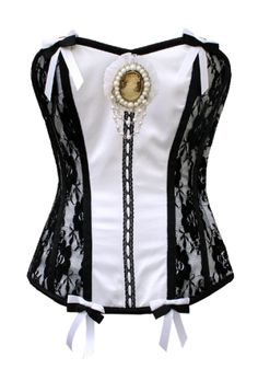 Victorian satin lace corset with medal