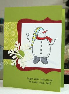 airbornewifes stamping spot: Snow Much Fun ~ set of 8 Christmas cards