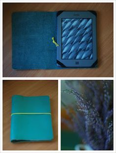 Leather Cover for Kindle, iPad, Tablet PC or e-book.  DIY Tutorial