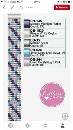 Tentacles bracelet, bead loom pattern, wristband pattern, wrist cuff pattern for Miyuki Delica seed beads Bead Loom Bracelets, Beaded Bracelet Patterns, Bracelet Crafts, Bead Loom Designs, Bead Loom Patterns, Beading Patterns, Seed Bead Crafts, Loom Craft, Bead Crochet Rope