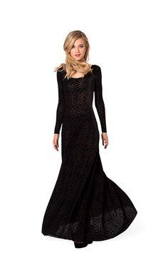 BLACK MILK BURNED VELVET LONG SLEEVE MAXI DRESS #blackmilk #dress #maxidress #long