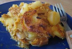 Vegán rakott krumpli Vegan Casserole, Vegan Foods, Bologna, Baking Recipes, Cauliflower, Macaroni And Cheese, Curry, Food And Drink, Vegetables
