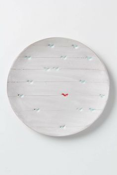 Lisa Neimeth  Artful Dinner Plate, Perched Birds