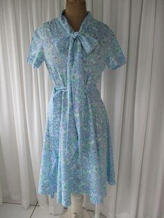 Vintage Floral Day Dress 1960's by PinkLipstickVintage on Etsy