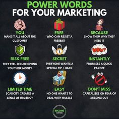 all of this can be created by using power words in the right way! 🔑 - If you want to make a lot of money you have to sell, and if you want to be a good seller you have to know marketing! Make 100 A Day, How To Make Money, How To Become, Marketing Plan, Online Marketing, Entrepreneur, Ambition, How To Get Clients