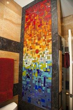 Mercury Mosaics   Grennier Guest Bathroom