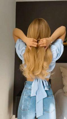 Bun Hairstyles For Long Hair, Work Hairstyles, Summer Hairstyles, Hair Tips Video, Hair Videos, Long Hair Video, Hair Up Styles, Medium Hair Styles, Mode Geek