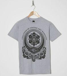 Buy ObeyUnited Art T-Shirt- Mens Fashion Online at Size? Mens Fashion Online, Men's Fashion, Clothing, Mens Tops, T Shirt, Stuff To Buy, Art, Style, Moda Masculina