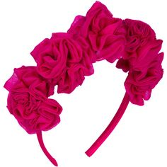 Vjera Vilicnik - Dianthus Headband Pink ($89) ❤ liked on Polyvore featuring accessories, hair accessories, head wrap headband, floral headwrap, hair bands accessories, pink flower headband et pink flower hair accessories