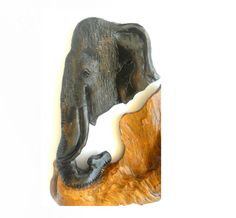 "Natural Teak  Wood Carving Elephant Head Art Hand Carved Handmade Carved Elephant Wall Hanging Home Decor Art / Gift 12.25""x12"" by WoodCarvingArt on Etsy"
