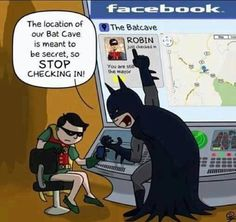 Do your duty check-in and support local business - unless you need to be secret about it! #secretlair #batcave #topsecret