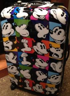 COOL!! Pop Art Mickey Mouse Luggage