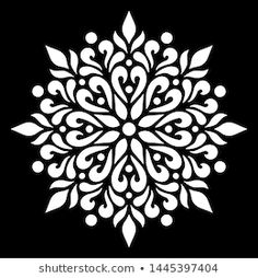 Find Pattern Mandala White Stencil Doodles Sketch stock images in HD and millions of other royalty-free stock photos, illustrations and vectors in the Shutterstock collection. Stencils Mandala, Mandala Painting, Stencil Art, Mandala Art, Stencil Templates, Stencil Patterns, Stencil Designs, Doodle Sketch, Doodle Art