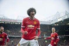 Old Trafford roars with Marouane Fellaini after the influential Belgian gave the Red Devil...