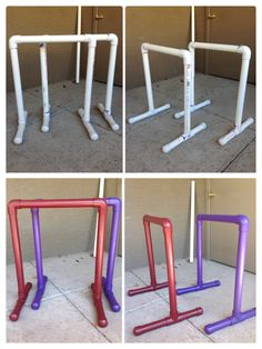 Diy free standing pull up bar keeklamp pullupbar for Diy squat rack metal