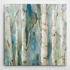 Wexford Home Carol Robinson 'River Birch I' Canvas Wall Art