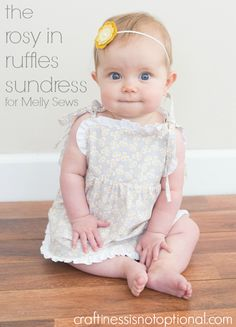 craftiness is not optional: Rosy in Ruffles Sundress tutorial-for Melly sews....with a free pattern!