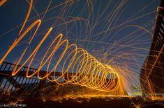 Wirewool Spinning. Leicester Photographer. Spinning UK. Gareth Norman Photography. Long Exposure. Lightpainting.