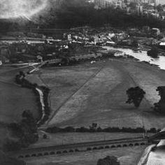 Windsor Railway Bridge, the Brocas and Baths Island, Windsor, 1928 | Britain from Above