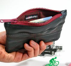 Recycled Bike Inner Tube Piccolo Pouch by reddotscycling on Etsy, $20.00