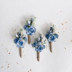 Bridesmaid Corsage, Blue Bridesmaids, Bridesmaid Flowers, Prom Corsage, Bridesmaid Proposal, Wedding Bouquets, Tan Wedding, Wedding Ideas, Prom Ideas