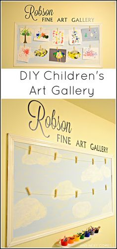 Our Playroom: Displaying Children's Art | And Next Comes L