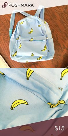 Banana banana backpack Beautiful aqua blue with banana pattern. I bought this when I was traveling in Korea. Very great quality and condition. Bags Backpacks