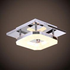 LED Acrylic Chandelier lights Ceiling Light Fixture Flush Mount Modern #DrumModernComtemporaryArtistic