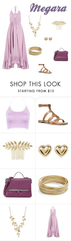 """Megara Disney Bound"" by disney-nerd-designs ❤ liked on Polyvore featuring WithChic, MICHAEL Michael Kors, Chloe + Isabel, Candela, Botkier, Design Lab, 2028 and Loup Charmant"