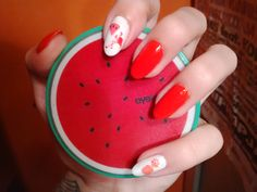 Scented nail stickers by essence. DIY nails nailart. Flamingo & pineapple & watermelon