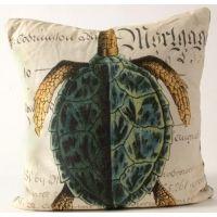 Natural History Green Sea Turtle Pillow
