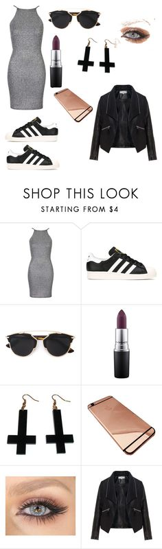 """""""Untitled #122"""" by anasanchez2 ❤ liked on Polyvore featuring Oh My Love, adidas, Christian Dior, MAC Cosmetics, Chicnova Fashion and Zizzi"""
