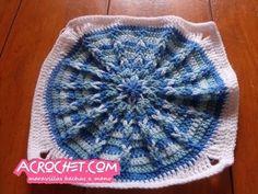 Tejiendo una mandala con ochitos a crochet parte 1