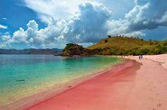 Plage de sable rose et eau turquoise d elafonissi