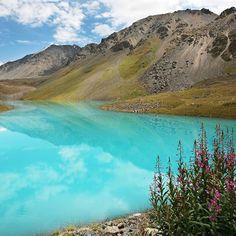 High mountain lake Zhashyl-Kol #Kyrgyzstan