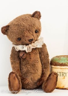 Antiqued bears to show aged look Precious !