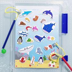 知育にも♪100均グッズで魚釣りの作り方 | 手作りおもちゃで子育て
