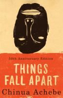 """Things Fall Apart  by Chinua Achebe.  Two intertwining stories, both centering on Okonkwo, a """"strong man"""" of an Ibo village in Nigeria. The first, a powerful fable of the immemorial conflict between the individual and society, traces Okonkwo's fall from grace with the tribal world. The second, as modern as the first is ancient, concerns the clash of cultures and the destruction of Okonkwo's world with the arrival of aggressive European missionaries."""