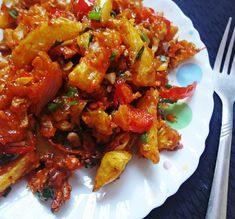 Crispy vegetable in schezwan sauce is a delicious snack and also a great party appetizers. The veggies are deep fried and tossed in with onion garlic ginger paste and schezwan sauce. Recipe by Prasanna. In association with Preethi Kitchen Appliances. #MothersdayContest.    --> http://ift.tt/1UocyKb #Vegetarian #Recipes