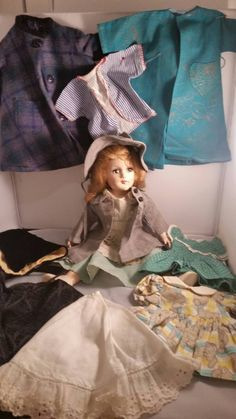 Mary Hoyer Doll and 10 outfits 1950-1960 by Blissfulcollectables on Etsy