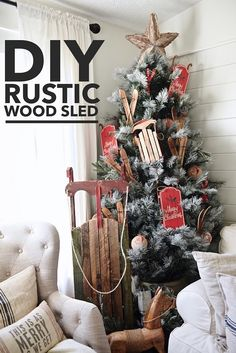 DIY large rustic woo